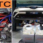 Tay xe SPORTY TOYOTA C – HR đã lắp đệm giảm chấn TTC tại Singapore