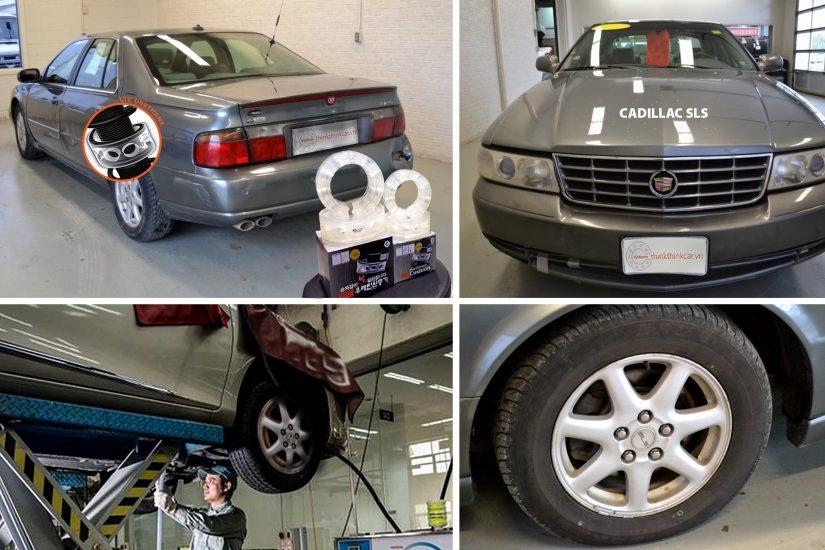 Ô tô CADILLAC SLS lắp đặt đệm giảm xóc TTC Urethane từ Hàn Quốc