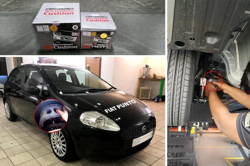 FIAT PUNTO lắp đặt đệm giảm chấn TTC