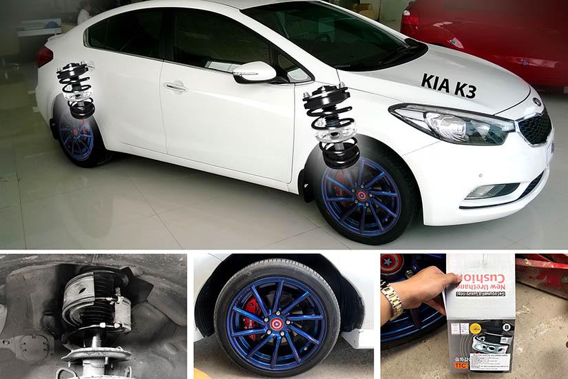 KIA K3 lắp đặt đệm giảm chấn TTC tại garage Phú Thịnh