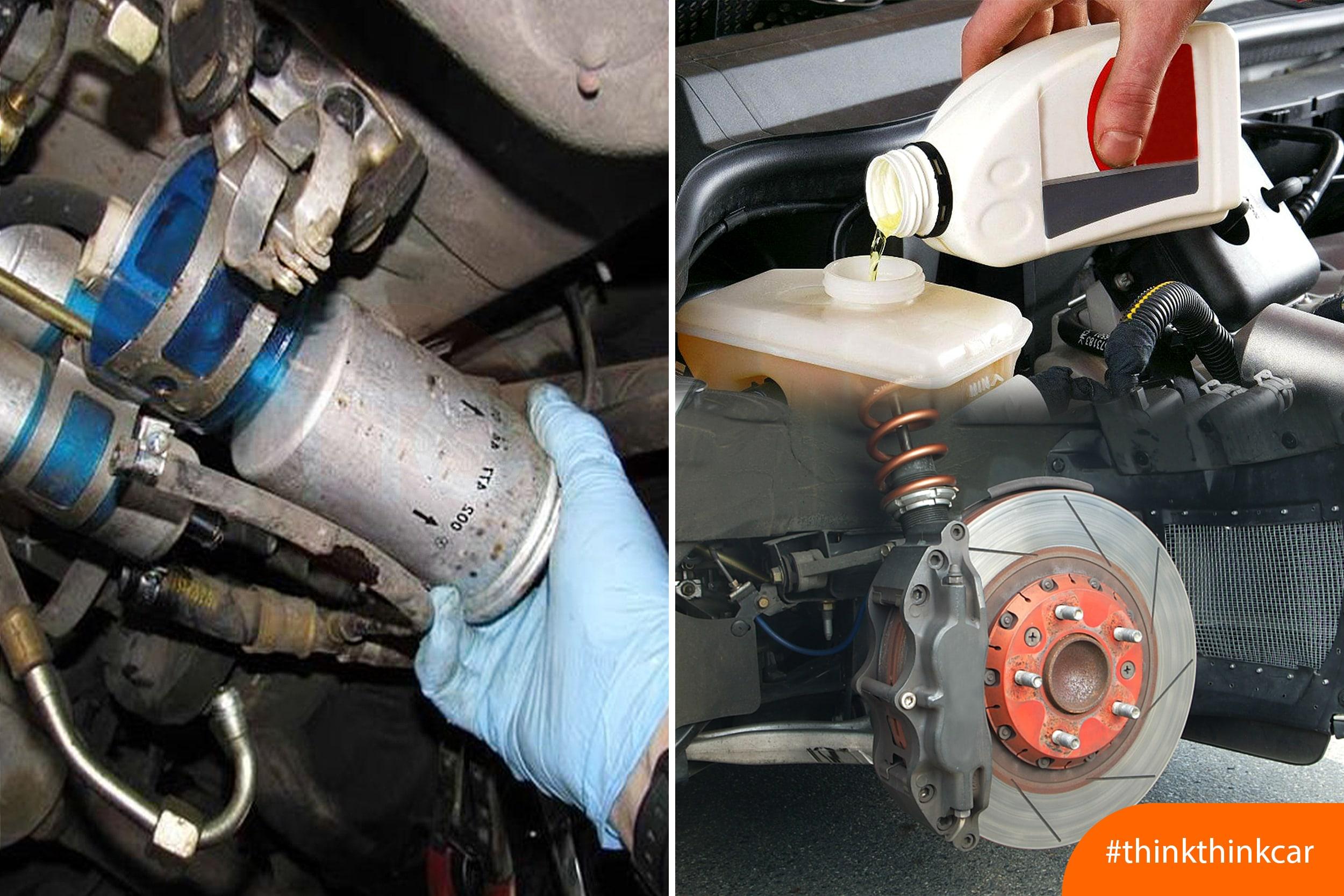 Các hạng mục cần bảo dưỡng và thay thế phụ tùng cho ô tô hình 2