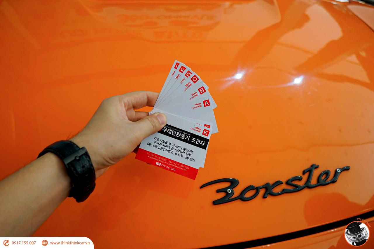 Porsche Boxster lắp đệm giảm chấn TTC