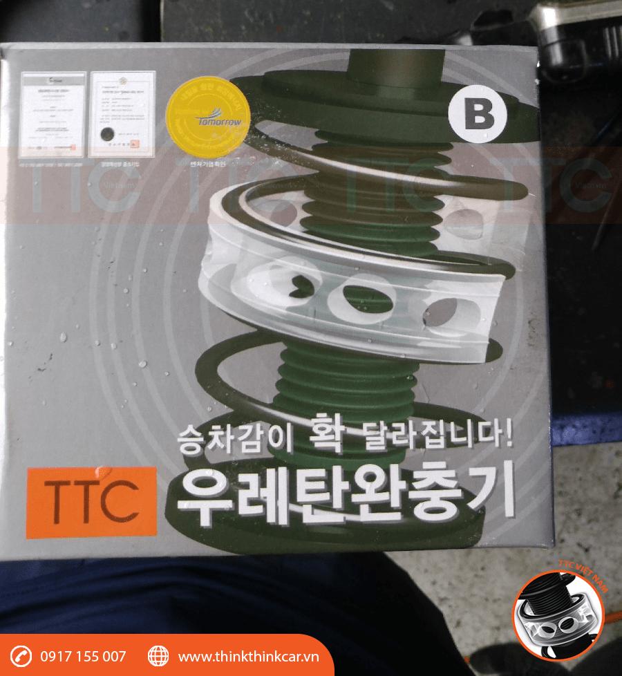 Chuẩn bị đệm giảm chấn TTC URethane trước khi lắp đặt