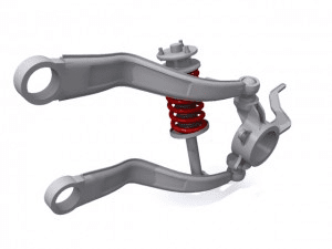 Trailing arm suspension